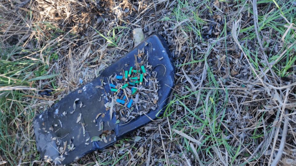 Patrone ispaljenog streljiva pronađene u ornitološkom rezervatu Pod Gredom (foto: Biom)